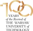 Logo 100 Years of the Revival of the Warsaw University of Technology