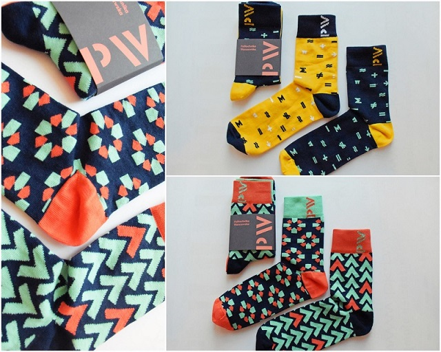 coloured socks with WUT logo
