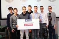 The winning WUT team at the Global Legal Hackathon Award Ceremony; photo: www.prawo.pl