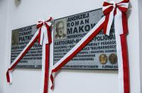 Memorial plaques commemorating professors