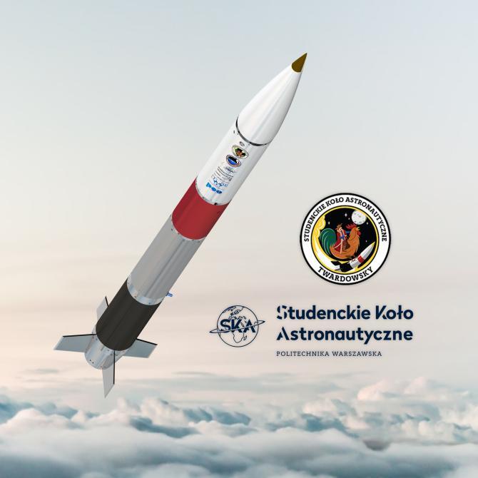 Wizualizacja rakiety Twardowsky