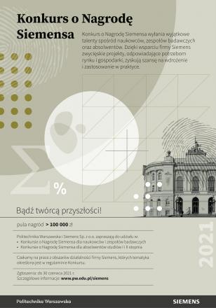 Plakat promujący 26. konkurs o Nagrodę Siemensa
